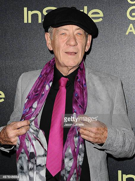 Sir Ian McKellen attends the Hollywood Foreign Press Association and InStyle's celebration of the 2016 Golden Globe award season at Ysabel on...