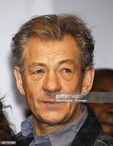 Sir Ian McKellen attends the launch of a yearlong nationwide programme of activities celebrating 50 years of Michael Croft's National Youth Theatre...
