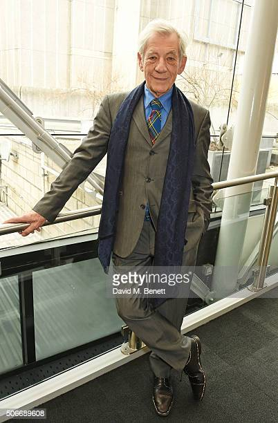 Sir Ian McKellen attends the launch of 'BFI Presents Shakespeare On Film' at BFI Southbank on January 25 2016 in London England
