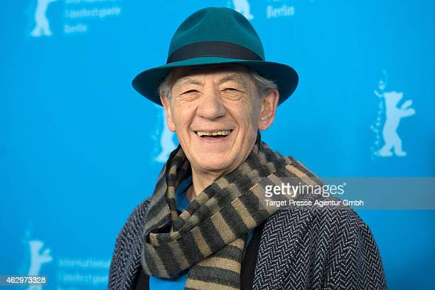 Sir Ian McKellen attends the 'Mr Holmes' photocall during the 65th Berlinale International Film Festival at Grand Hyatt Hotel on February 8 2015 in...