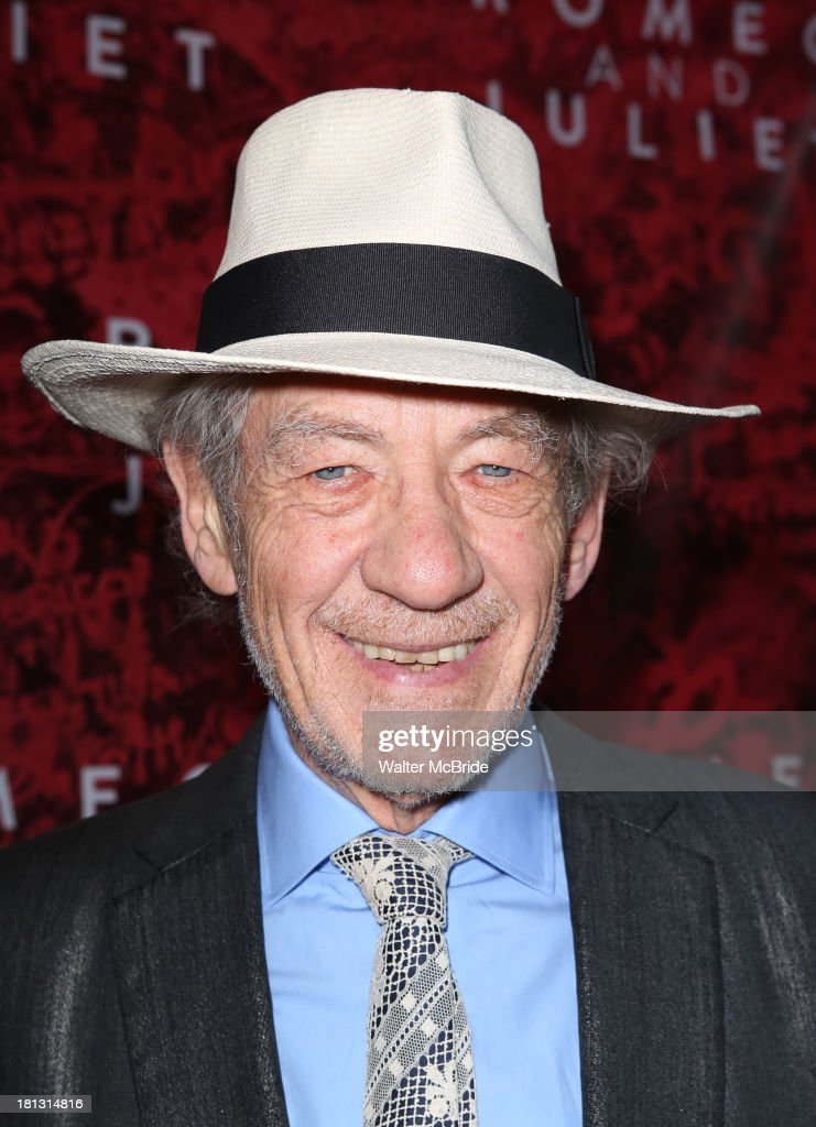 Sir <a gi-track='captionPersonalityLinkClicked' href=/galleries/search?phrase=Ian+McKellen&family=editorial&specificpeople=202983 ng-click='$event.stopPropagation()'>Ian McKellen</a> attends the 'Romeo And Juliet' Broadway Opening Night at Richard Rodgers Theatre on September 19, 2013 in New York City.
