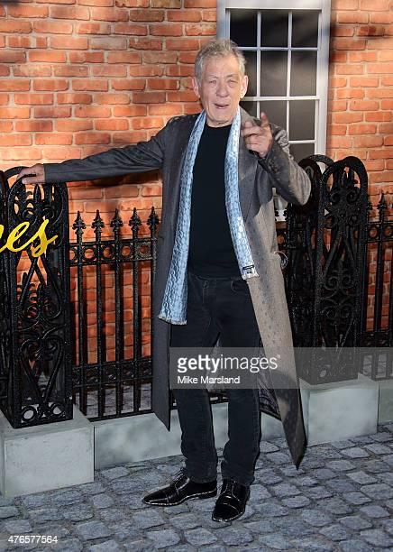 Sir Ian Mckellen attends the UK Premiere of 'Mr Holmes' at ODEON Kensington on June 10 2015 in London England