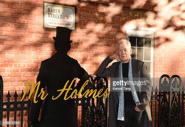 Sir Ian McKellen attends the UK Premiere of 'Mr Holmes' at ODEON Kensington on June 10 2015 in London England