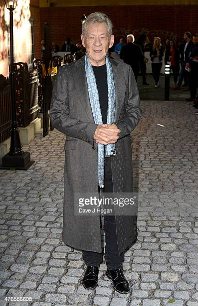 Sir Ian McKellen attends the UK Premiere of 'Mr Holmes' at the Odeon Kensington on June 10 2015 in London England