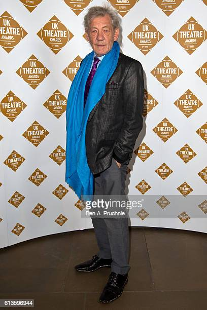 Sir Ian Mckellen attends the UK Theatre Awards at The Guildhall on October 9 2016 in London England
