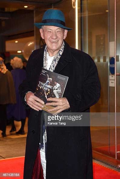 Sir Ian McKellen attends the VIP night for the Northern Ballets rendition of 'The Great Gatsby' at Sadlers Wells Theatre on March 24 2015 in London...