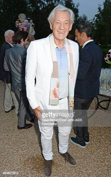 APPLIES Sir Ian McKellen attends the Woodside End of Summer party to benefit the Elton John AIDS Foundation sponsored by Chopard and Grey Goose at...