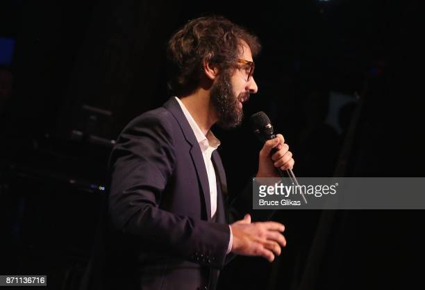 Sir Ian McKellen Award Honoree Josh Groban performs at the '2017 Only Make Believe Gala' at The Gerald Schoenfeld Theatre on November 6 2017 in New...