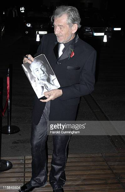 Sir Ian McKellen during National Youth Theatre 50th Anniversary Gala Red Carpet at Battersea Evolution in London Great Britain