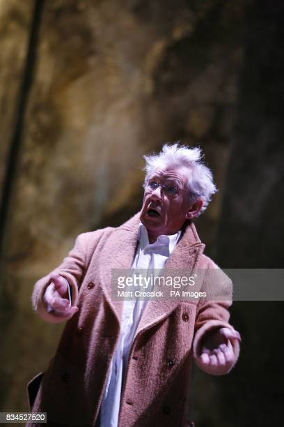 Sir Ian McKellen during rehearsals for 'Cries from the Heart' a celebration of voices for justice in support of Human Rights Watch at the Theatre...