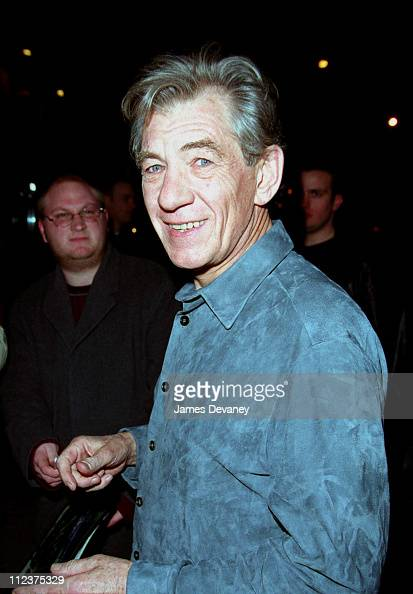 Sir Ian McKellen during 'Saturday Night Live' After Party March 16 2002 at Ernie's in New York City NY United States