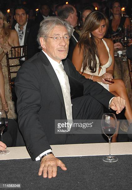Sir Ian McKellen during The 8th Annual White Tie and Tiara Ball to Benefit the Elton John AIDS Foundation in Association with Chopard Inside Dinner...