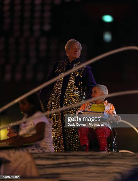 Sir Ian McKellen during the Opening Ceremony for the London Paralympic Games 2012 at the Olympic Stadium London