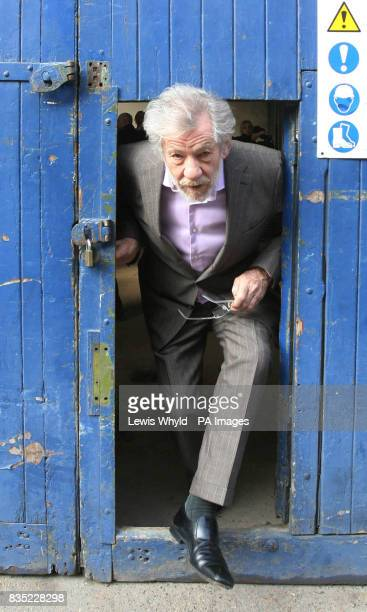 Sir Ian McKellen visits the site of Shakespeare's first playhouse which has been uncovered by Museum of London archaeologists The location of the...