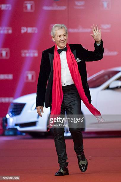 Sir Ian McKellen walks the red carpet of the 19th Shanghai International Film Festival at Shanghai Grand Theatre on June 11 2016 in Shanghai China