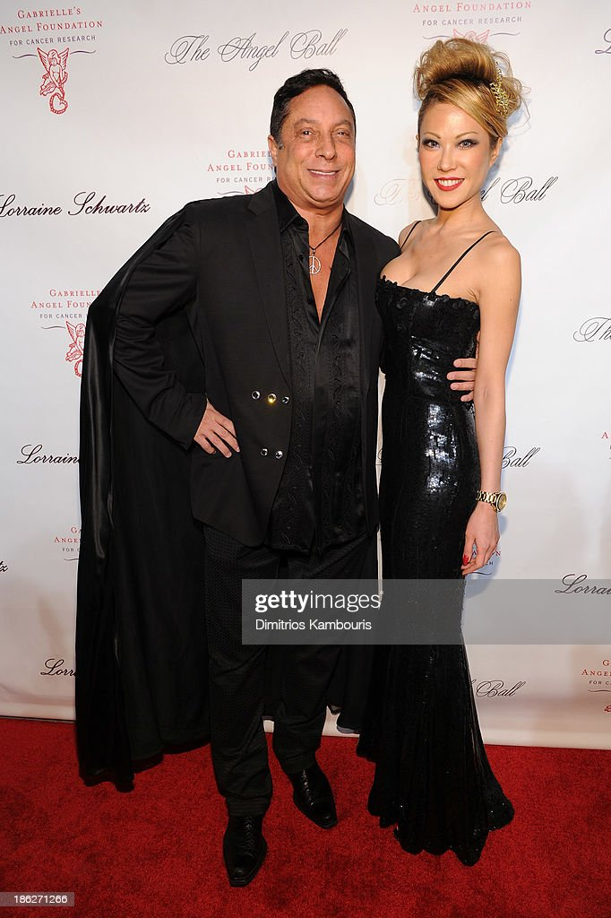 Sir Ivan Wilzig (L) and Mina Otsuka attends Gabrielle's Angel Foundation Hosts Angel Ball 2013 at Cipriani Wall Street on October 29, 2013 in New York City.
