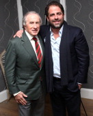 Sir Jackie Stewart and Brett Ratner attend the press conference for 'Weekend Of A Champion' at Crosby Street Hotel on November 7 2013 in New York City
