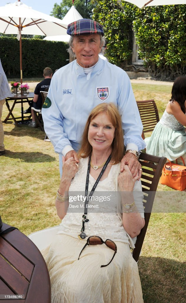 Sir <a gi-track='captionPersonalityLinkClicked' href=/galleries/search?phrase=Jackie+Stewart&family=editorial&specificpeople=167276 ng-click='$event.stopPropagation()'>Jackie Stewart</a> (L) and wife Helen Stewart attend the Cartier Style & Luxury Lunch at the Goodwood Festival of Speed on July 14, 2013 in Chichester, England.