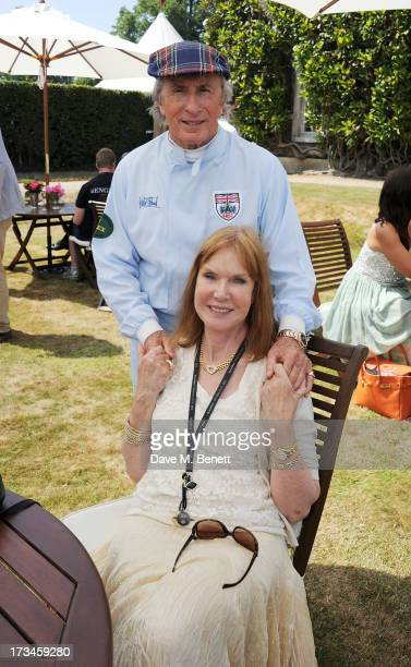 Sir Jackie Stewart and wife Helen Stewart attend the Cartier Style Luxury Lunch at the Goodwood Festival of Speed on July 14 2013 in Chichester...