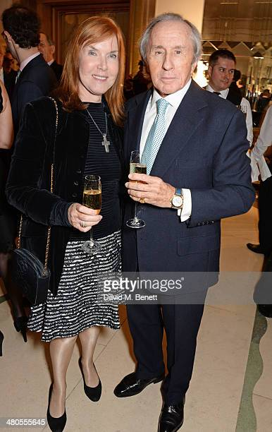 Sir Jackie Stewart and wife Lady Helen Stewart attend a private dinner hosted by Spear's for The Mayo Clinic at Claridge's Hotel on March 25 2014 in...