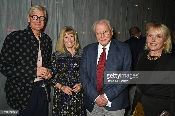 Sir James Dyson Lady Deirdre Dyson Sir David Attenborough and Miranda Richardson attend the Christmas Installation unveiling by Sir David...