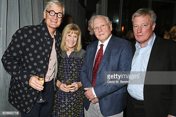 Sir James Dyson Lady Deirdre Dyson Sir David Attenborough and architect Timothy Hatton attend the Christmas Installation unveiling by Sir David...