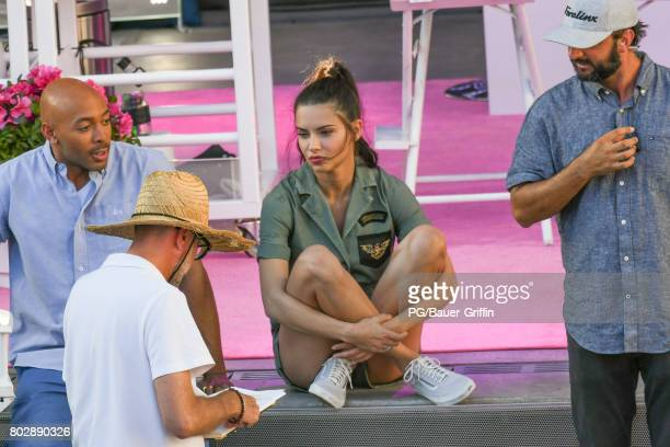 Sir John and Adriana Lima are seen on set of 'American Beauty Star' on June 27 2017 in Los Angeles California