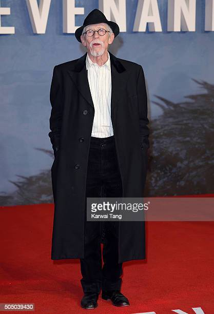 Sir John Hurt attends UK Premiere of 'The Revenant' at Empire Leicester Square on January 14 2016 in London England