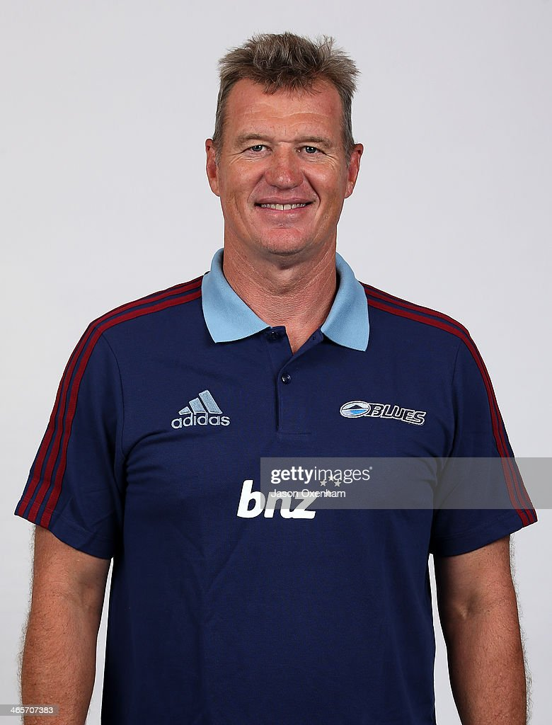 Sir John Kirwan poses during a Blues Super Rugby headshots session on January 29, 2014 in Auckland, New Zealand.