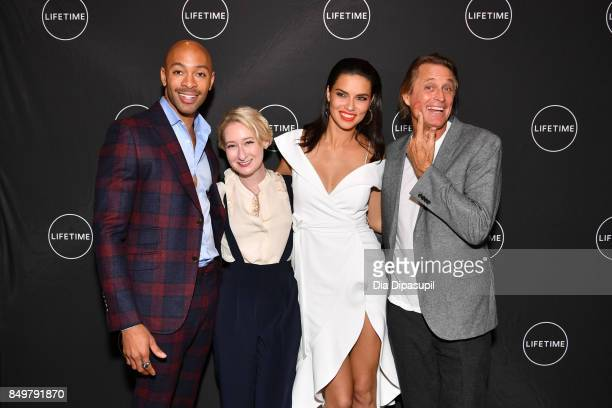 Sir John Sarah Brown Adriana Lima and Russell James attend the 'American Beauty Star' premiere at Gramercy Terrace at The Gramercy Park Hotel on...