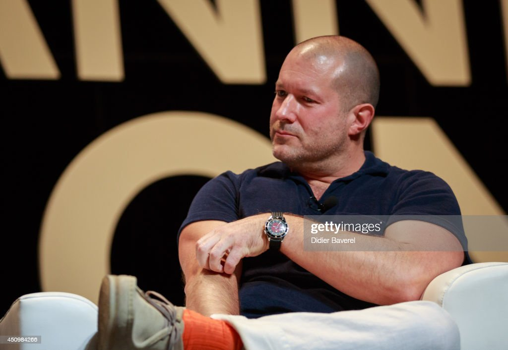 Sir Jonathan Ive attends the conversation with Bono at the 2014 Cannes Lions on June 21, 2014 in Cannes, France.