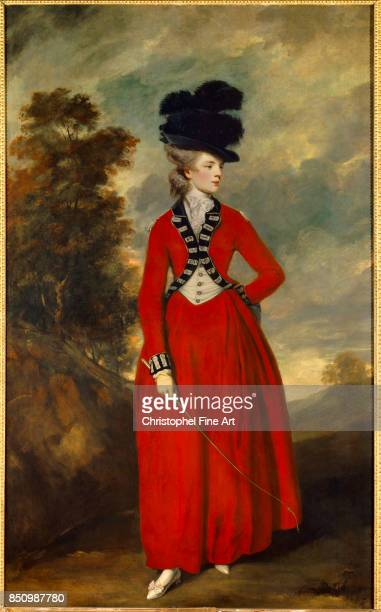 Sir Joshua Reynolds portrait of Lady Worsley 1776 Oil on canvas 236 x 144 m Leeds Yorkshire Harewood House