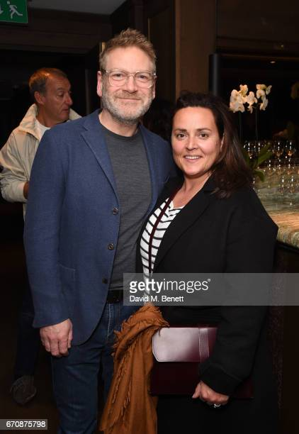 Sir Kenneth Branagh and Lindsay Brunnock attend a gala screening of 'Mindhorn' at the May Fair Hotel on April 20 2017 in London England