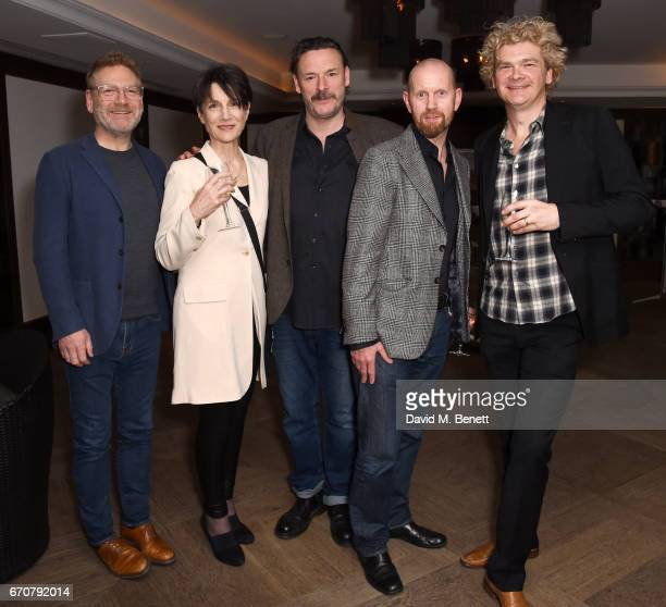 Sir Kenneth Branagh Harriet Walter Julian Barratt Sean Foley and Simon Farnaby attend a gala screening of 'Mindhorn' at the May Fair Hotel on April...