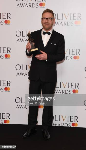 Sir Kenneth Branagh poses in the winners room at The Olivier Awards 2017 at Royal Albert Hall on April 9 2017 in London England