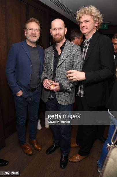 Sir Kenneth Branagh Sean Foley and Simon Farnaby attend a gala screening of 'Mindhorn' at the May Fair Hotel on April 20 2017 in London England