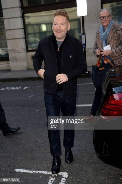 Sir Kenneth Branagh sighting at BBC Radio 2 on November 3 2017 in London England