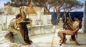 Sir Lawrence AlmaTadema Sappho and Alcaeus oil on panel 1041 x 122 cm Walters Art Museum Baltimore Maryland