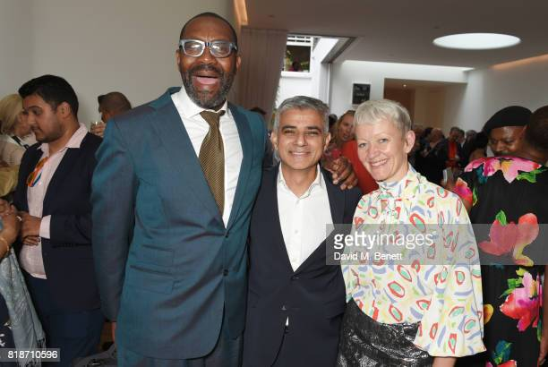 Sir Lenny Henry Mayor of London Sadiq Khan and Maria Balshaw attend the Mayor of London's Summer Culture Reception on July 18 2017 in London England