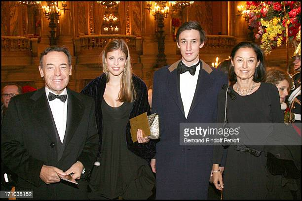 Sir Lindsay Owen Jones and wife Cristina and daughter Celeste and Andre Haes at Tribute To The Russian Ballets For The Centenary Of Their Created...
