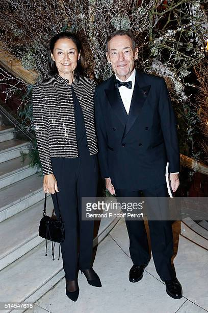 Sir Lindsay OwenJones and his wife Lady Cristina attend the Arop Charity Gala At the Opera Garnier under the auspices of Madam Maryvonne Pinault on...