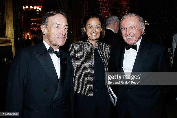 Sir Lindsay OwenJones Lady Cristina OwenJones and Francois Pinault attend the Arop Charity Gala At the Opera Garnier under the auspices of Madam...
