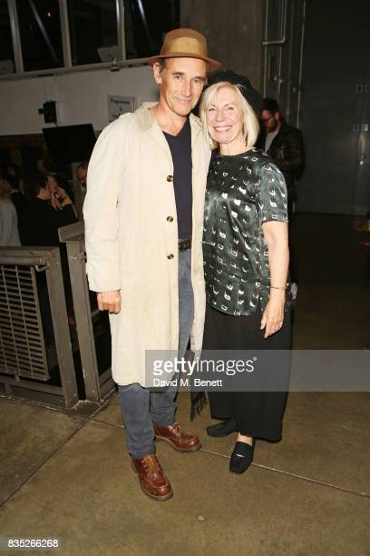 Sir Mark Rylance and Claire van Kampen attend the press night after party for 'Against' at The Almeida Theatre on August 18 2017 in London England