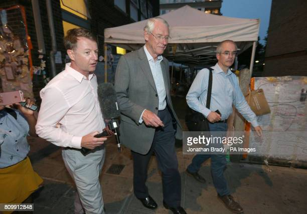 Sir Martin MooreBick leaving Latymer Community Church near Grenfell Tower after he meet residents and survivors of the Grenfell Tower fire