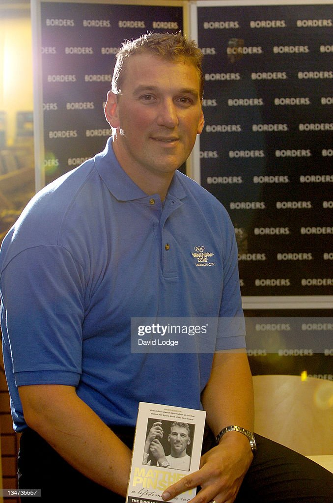 "Sir Matthew Pinsent Signs His Book ""A Lifetime in a Race"" at Borders in London"