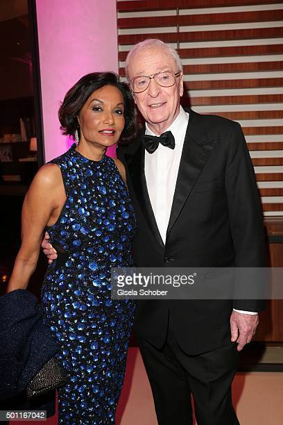 Sir Michael Caine and Lady Shakira Caine during the European Film Awards 2015 afterparty at hotel Sofitel on December 12 2015 in Berlin Germany