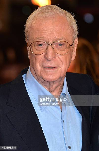 Sir Michael Caine attends the UK Premiere of 'The Last Witch Hunter' at Empire Leicester Square on October 19 2015 in London England