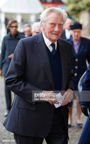 Sir Michael Heseltine attends a service of thanksgiving for Lady Mary Soames at Westminster Abbey on November 20 2014 in London England Lady Mary...