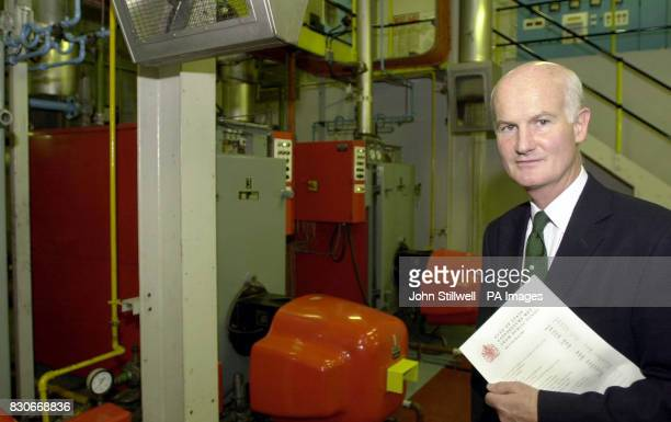 Sir Michael Peat the Keeper of the Privy Purse in the boiler room of Buckingham Palace London Sir Michael briefed media in the basement of the...