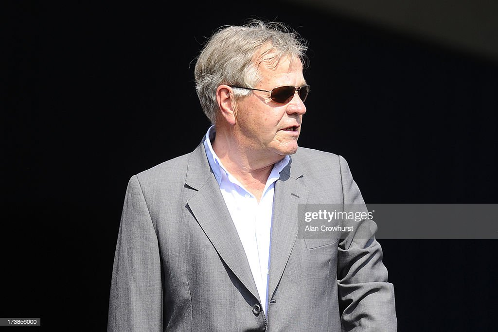 Sir Michael Stoute poses at Leicester racecourse on July 18, 2013 in Leicester, England.